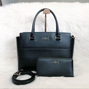 🔥BNWT KATE SPADE LANA SATCHEL W/WALLET SET